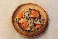 鮭と根菜の山椒グリル